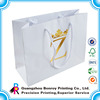 Fashion recyclble luxury paper packaging bags with handle
