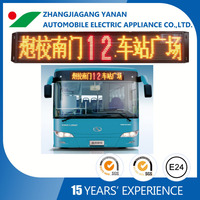 Customized bus led screen which show moving message and text