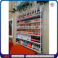 TSD-M029 cheap wholesale metal nail polish wall rack,opi nail polish display rack,nail polish wire rack