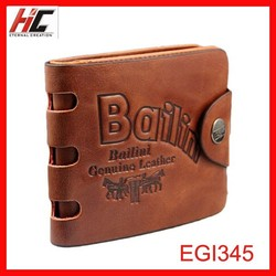 2015 Hot Selling Promotion Moq Definition Men Leather Wallet