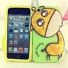 New Cartoon 3D Cute Giraffe Animal Soft Silicone Skin Case Cover for IPhone5/5s,giraffe case for iphone 5