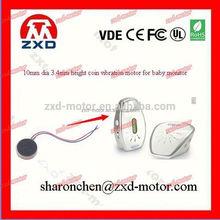 3V dc flat motor for mobile phone