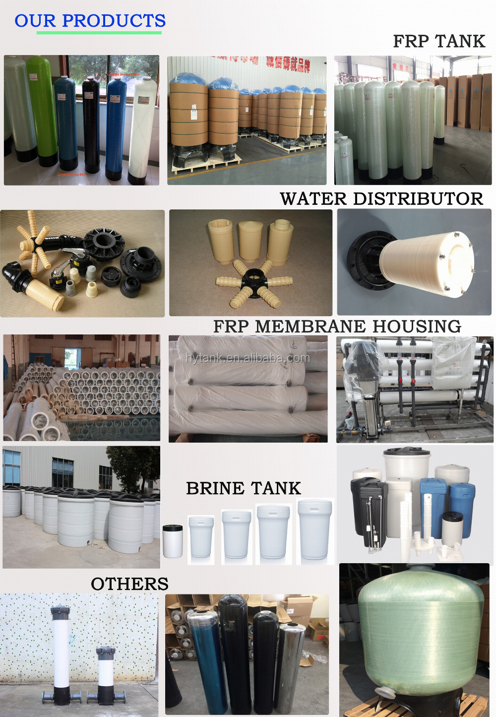 NSF listed membrane housing/pressure vessel/FRP vessel RO housing