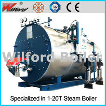 Horizontal type fire tube natural gas or diesel oil fired 6 ton steam boiler
