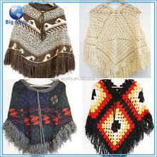 Poncho women sweater fashion fringes pullover women sweater poncho high quality women knitting poncho sweater patterns BigWorld