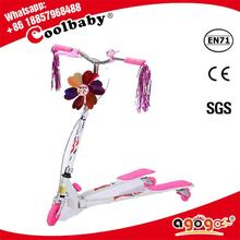 SL-4 Hot style flash three wheel swing scooter for kids
