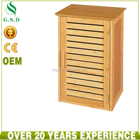 Bamboo bathroom hanging cabinet wall mounted cabinet storage