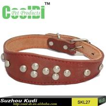 Fashion genuine leather greyhound dog collars