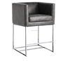 Sleek leather counter stool /bar stools and counter stools /metal frame bar stool