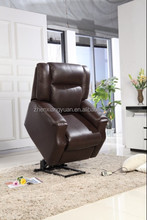 top grain leather electric recliner lift chair , lazy boy chair, chair with massage and heat D10