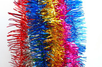 wedding decoration colourful Christmas Tinsel Garland For Decoration