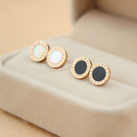 Wholesale Round High Quality Alloy brand Earrings For boys