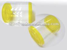 PET/PVC transparent plastic tube food grade plastic tube packaging cylinder vase plastic food cylinder container