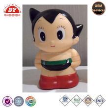 ICTI custom funny Astro boy Shape Plastic Coin Box