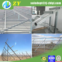 Hot dipped galvanized metal solar panel mounting bracket for ground installation