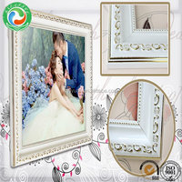 Special antique silver glitter photo frame