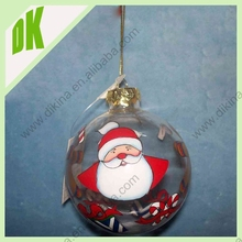 90mm front open vintage Christmas balls -Christmas photography - winter decor- holiday photo - christmas glass front open ball