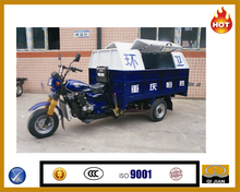 Tipper Sanitation Tricycle made in china/Loading Tricycle with bag/Three Wheel Motorcycle