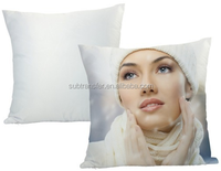 High quality polyester peach skin full white sublimation pillow case