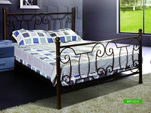 antique wrought black brown iron bed for sale