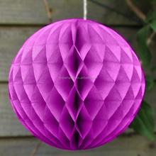 Purple Tissue Honeycomb Decorations Honeycomb Tissue Ball Wedding Party Decoration