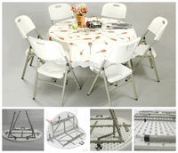SY-122ZY plastic banquet dining table and chair