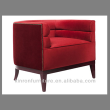 2015 Very nice new design red color lounge chair