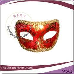 make cheap high quality nice decorative red masquerade ball eye masks