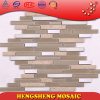 New Home Decor construction material hand painted glass mosaic bathroom tile