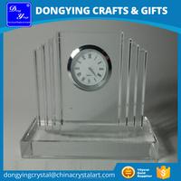 Blank Clear Crystal Clock Souvenirs