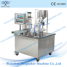 XBG-900 Series rotary type automatic whipping cream milk shake cup filling and sealing machine