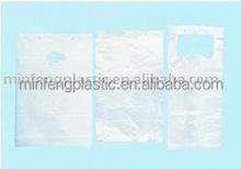 cheap plastic blocked shopping bag/t-shirt bag/flat bag
