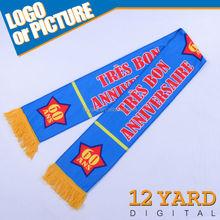 2015 NEW design super marketing anniversary advertisement scarf company 30th/60th anniversary celebration neck scarf