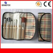 custom made cosmetic tool kits portable goat hair makeup brushes