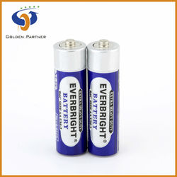 China factory supply r6 aa carbon zinc battery (pvc jacket)