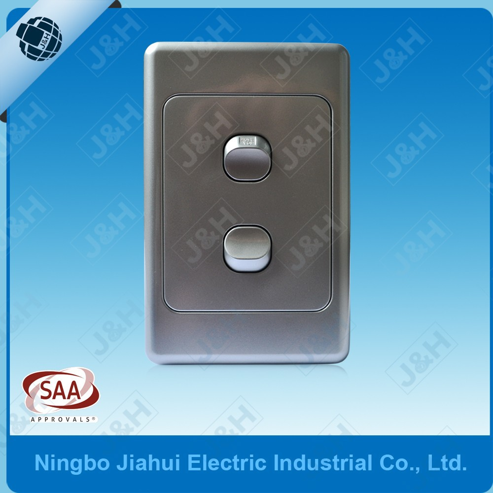 Wall Light With Switch Nz : Saa Australian Standard 250v 10a Wall Switch 2gang 2way,As/nzs Silver Australian 2gang Wall ...