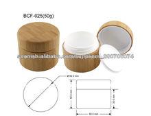 50G tarro de crema de bambú