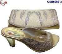 Elegant high heel women shoes match bag for wedding/party SCB6089-3