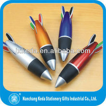 2013 fashion Small Size Promotional gift cute plane outlook plastic missile pen for kids