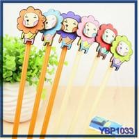 school supplies cute lion animal stationery wholesale office wood ballpoint pen