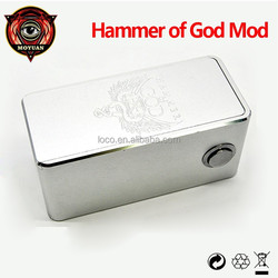 Quad Parallel Mechanical Box Mod Clone Hammer of God Box Mod from Moyuan Electronic Cigarette Factory