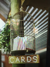 vintage wedding bird cage