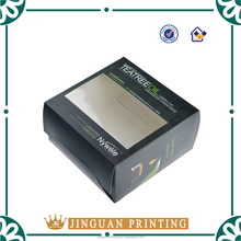 custom cheap folding oil packaging box with PVC window