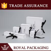 Custom Black Tie Luxury Gift Box For Jewellery Packaging