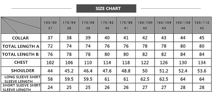 Men 39 s easy care shirts solid violet color long sleeve for Mens dress shirt sizes conversion