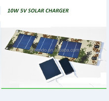 BEST quality 10W 5V Portable folding solar charger mobile power for cell phone pad camera outdoor adventure and travelling