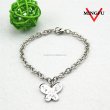Mingfu korean fashion custom cheap silver jewelry