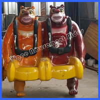 Lowest price self control bear brother amusement ride