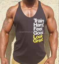 100% cotton men tank top Custom Logo Added High Qualiy Wholesale Gym Mens Stringer Tank Tops
