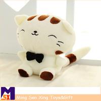 stuffed plush lovely cat toy wholesale korean toys for children